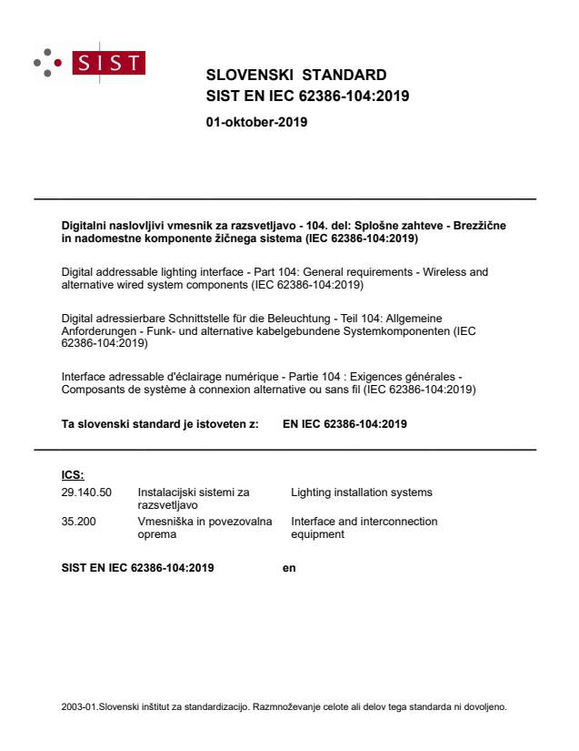 SIST EN IEC 62386-104:2019
