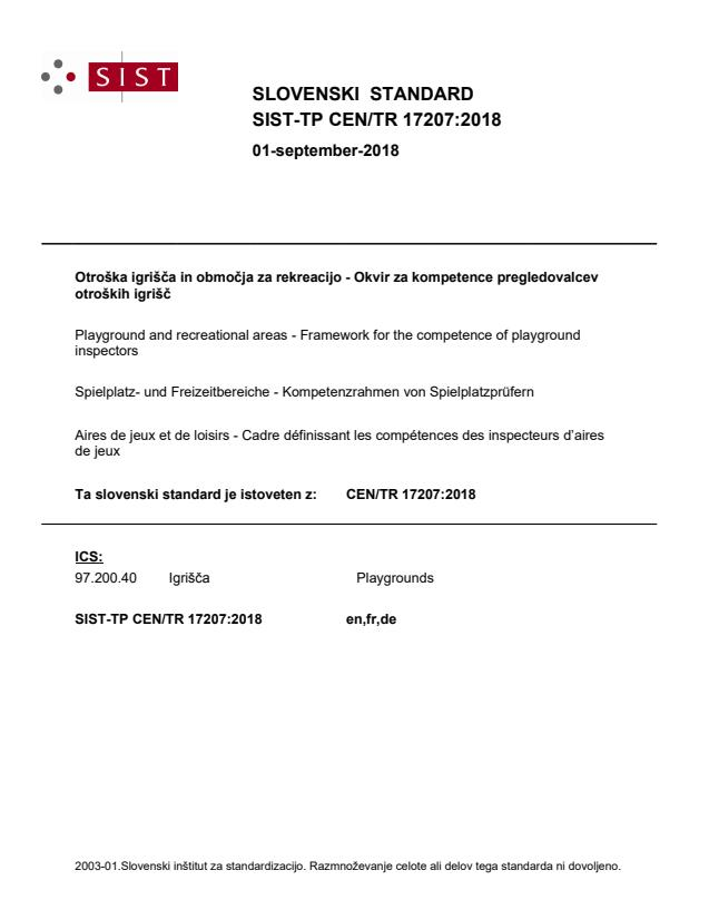 SIST-TP CEN/TR 17207:2018
