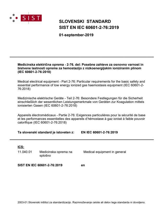 SIST EN IEC 60601-2-76:2019