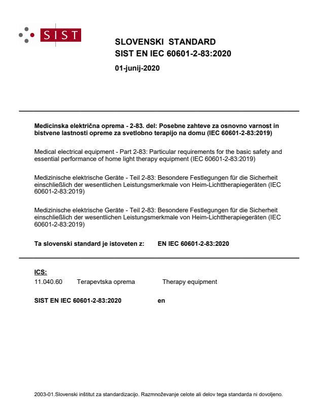 EN IEC 60601-2-83:2020 - BARVE na PDF-str 28,30