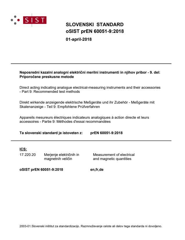 oSIST prEN 60051-9:2018