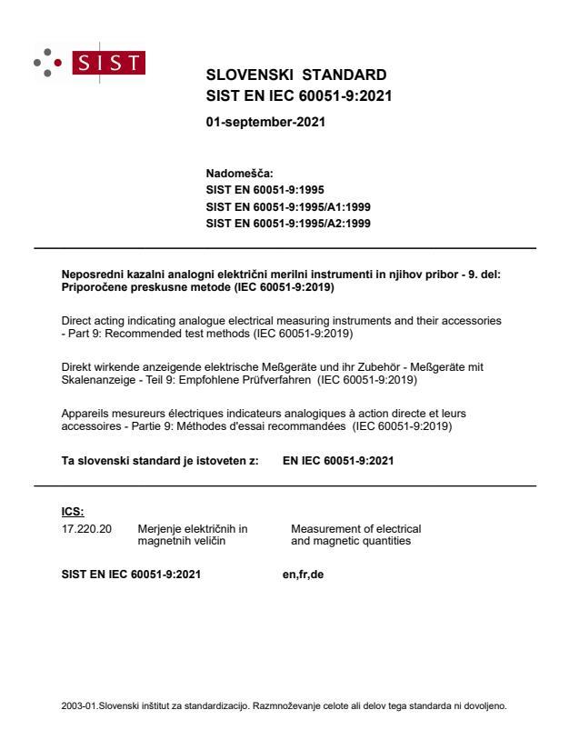 SIST EN IEC 60051-9:2021