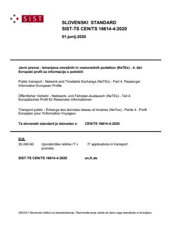 -TS CEN/TS 16614-4:2020 - BARVE