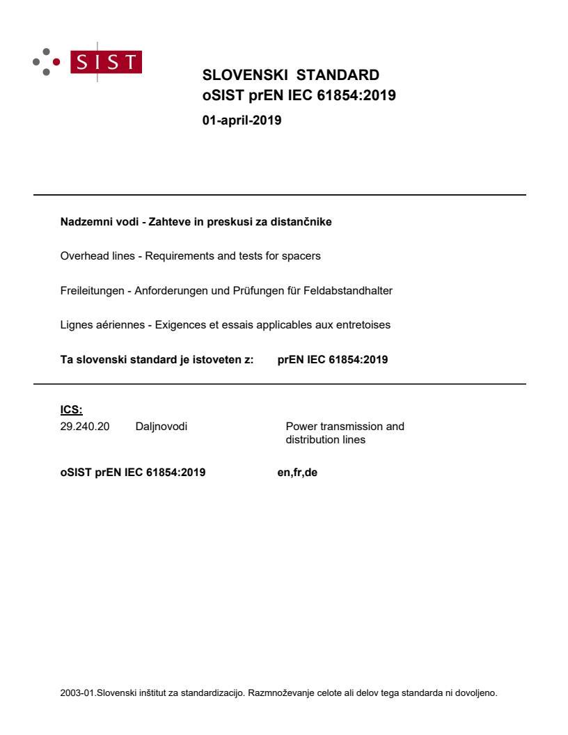 EN IEC 61854:2020