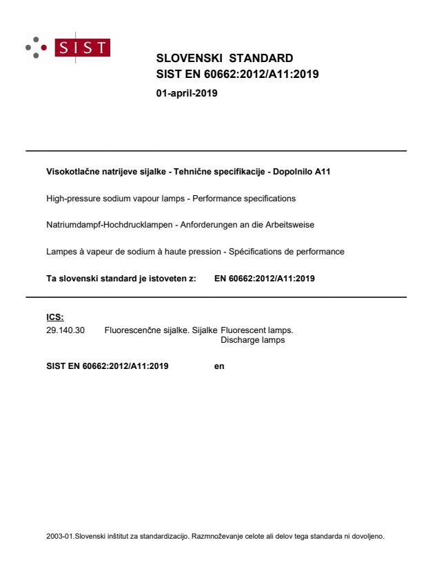 SIST EN 60662:2012/A11:2019