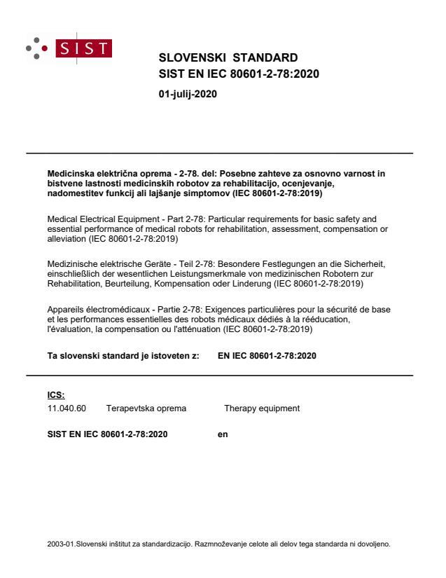 EN IEC 80601-2-78:2020
