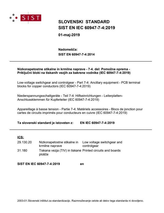 EN IEC 60947-7-4:2019 - BARVE na PDF-str 31