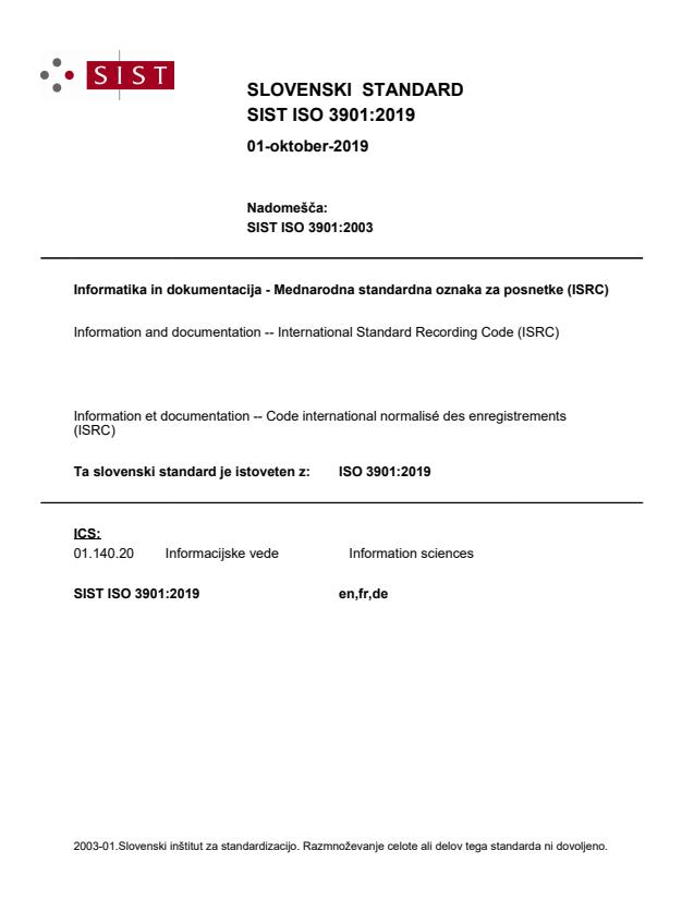 ISO 3901:2019