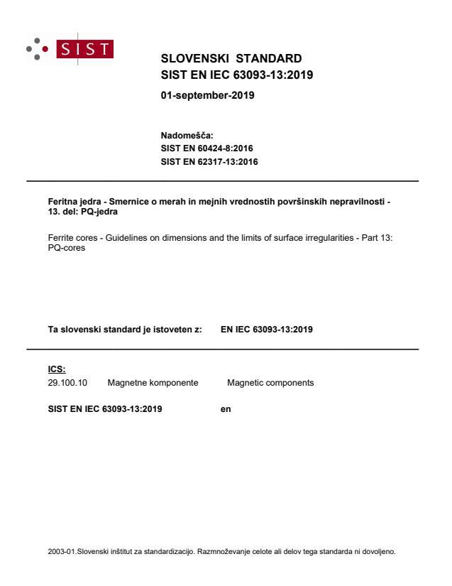 SIST EN IEC 63093-13:2019