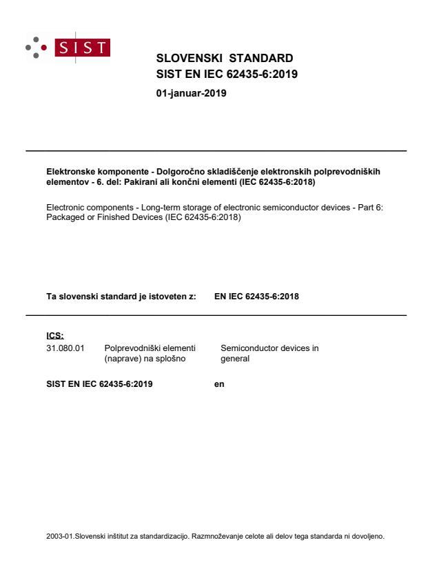 SIST EN IEC 62435-6:2019