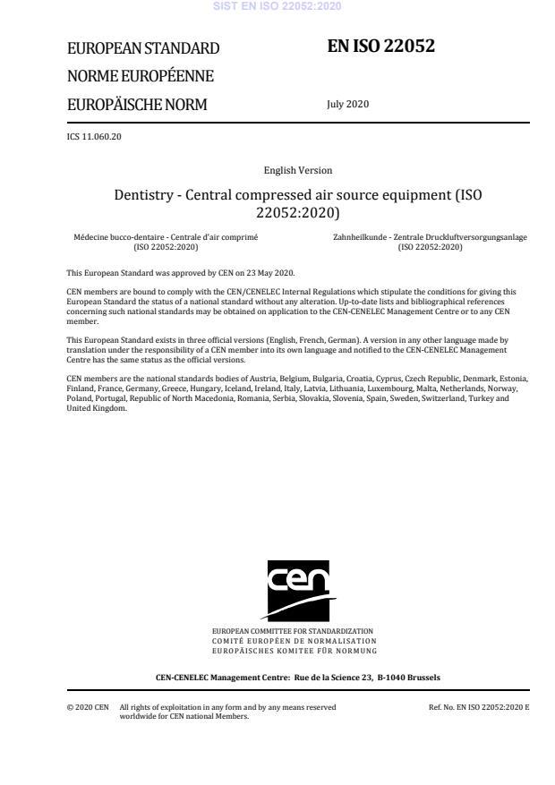 SIST EN ISO 22052:2020