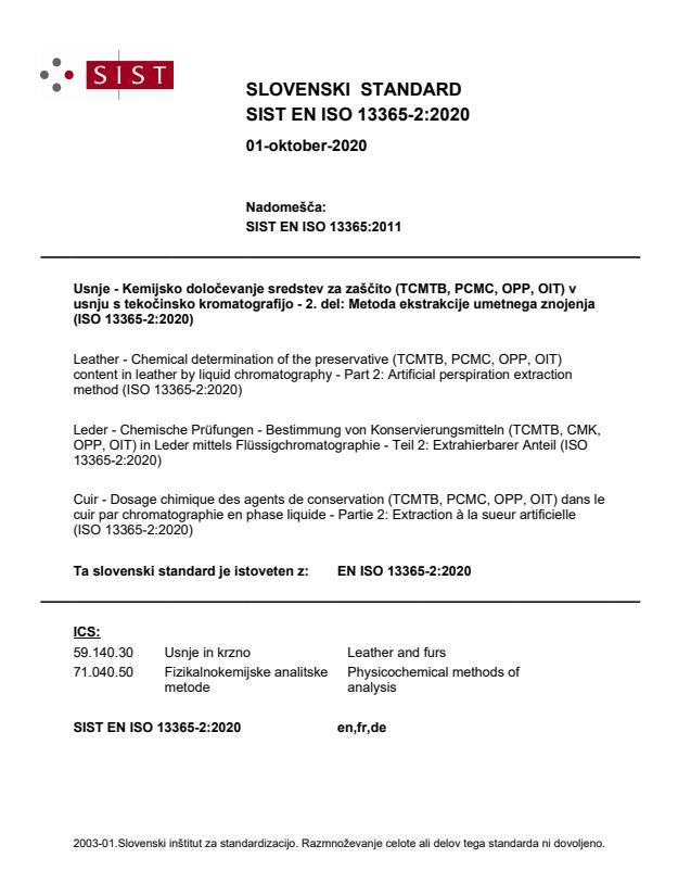 SIST EN ISO 13365-2:2020
