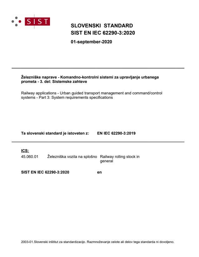 SIST EN IEC 62290-3:2020 - BARVE na PDF-str 26. Vodni pretisk na sredini strani: od str 258 do 270
