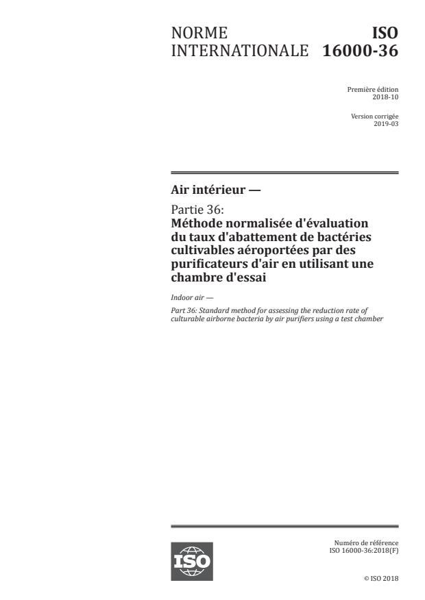 ISO 16000-36:2018 - Air intérieur