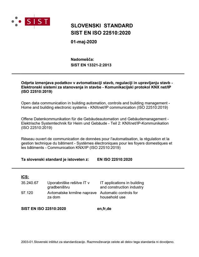 SIST EN ISO 22510:2020