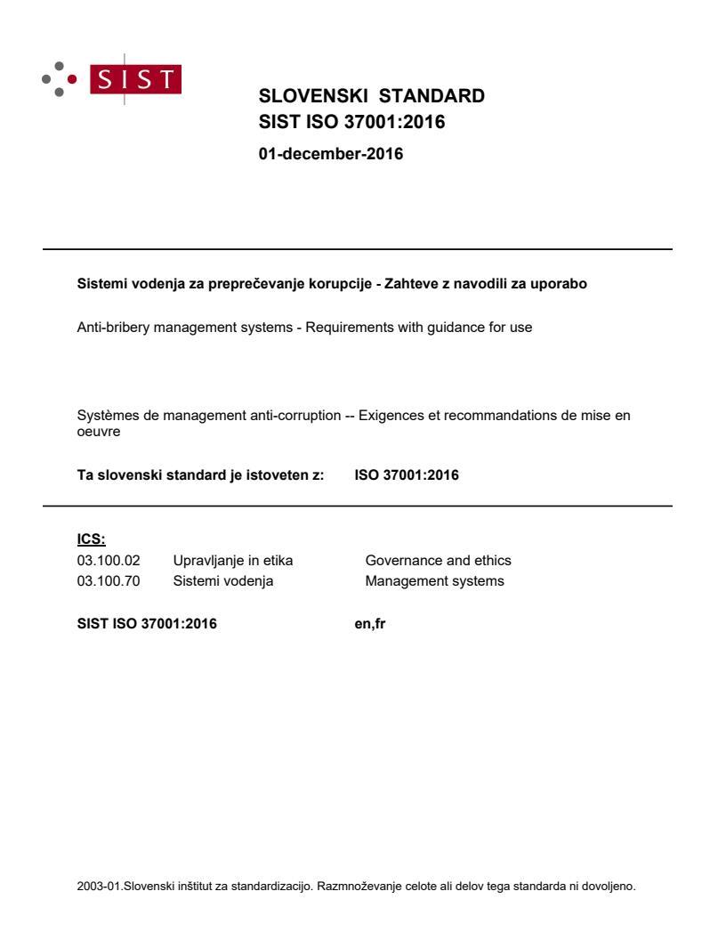 SIST ISO 37001:2016 - natisnjeno