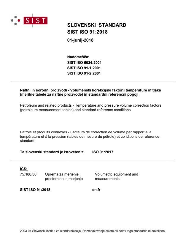SIST ISO 91:2018