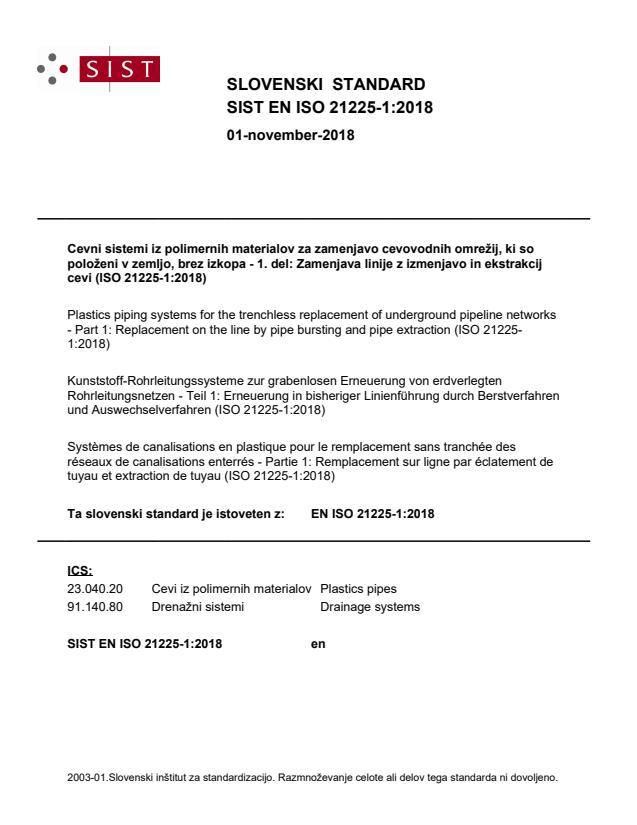 EN ISO 21225-1:2018