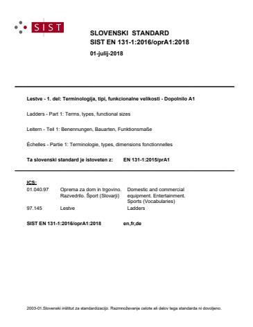 EN 131-1:2016/oprA1:2018