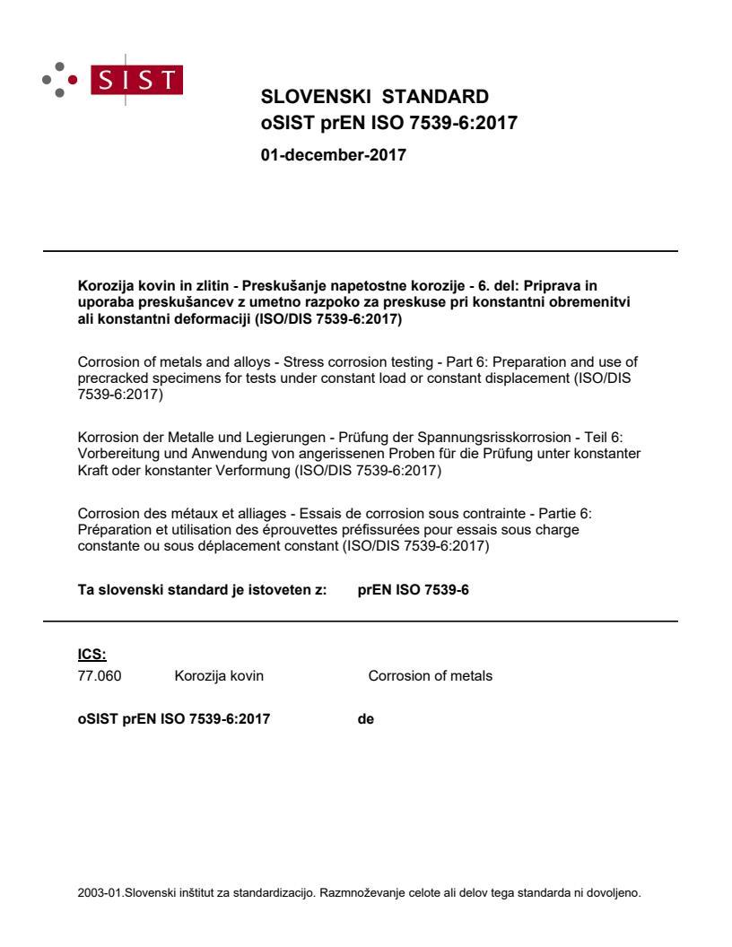 SIST EN ISO 7539-6:2018