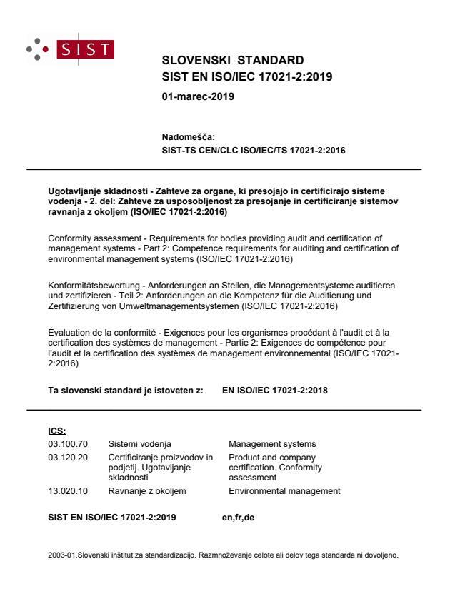 EN ISO/IEC 17021-2:2018