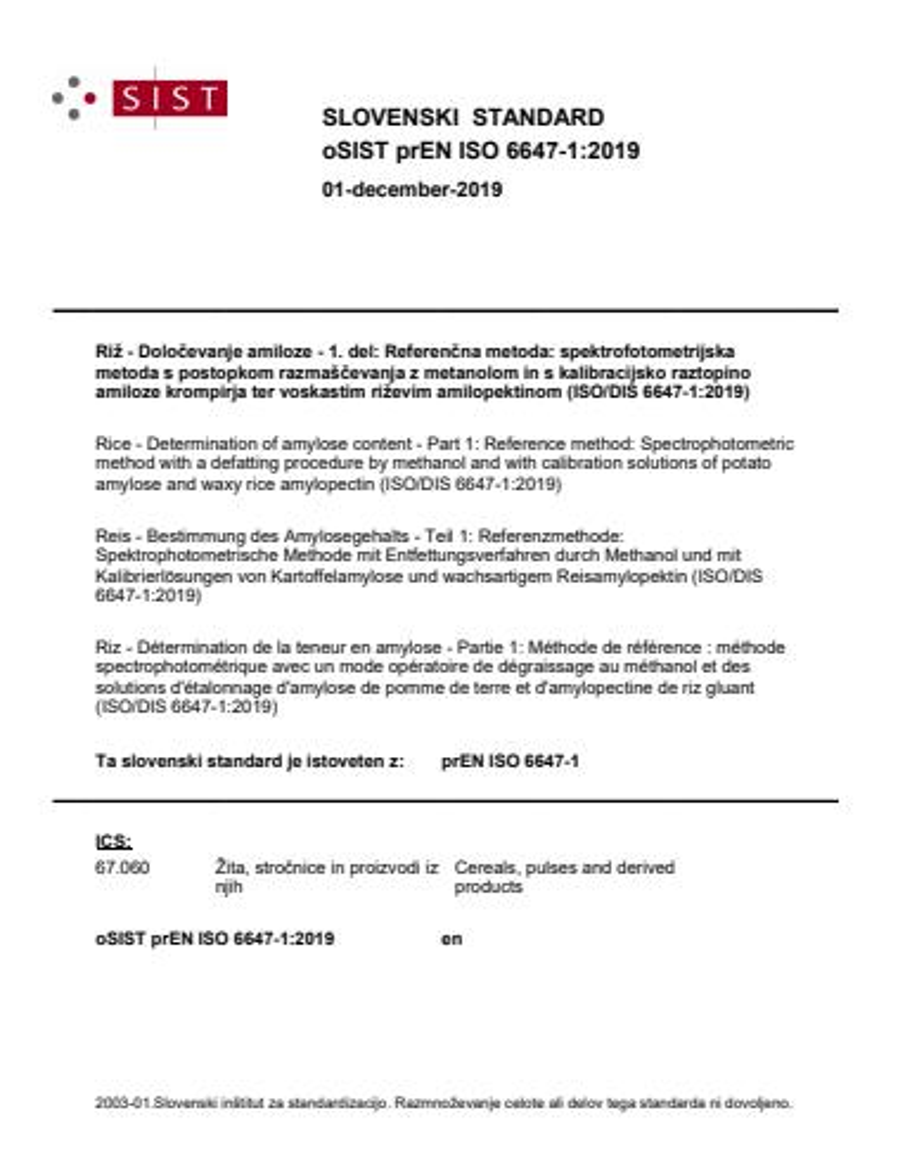 SIST EN ISO 6647-1:2020
