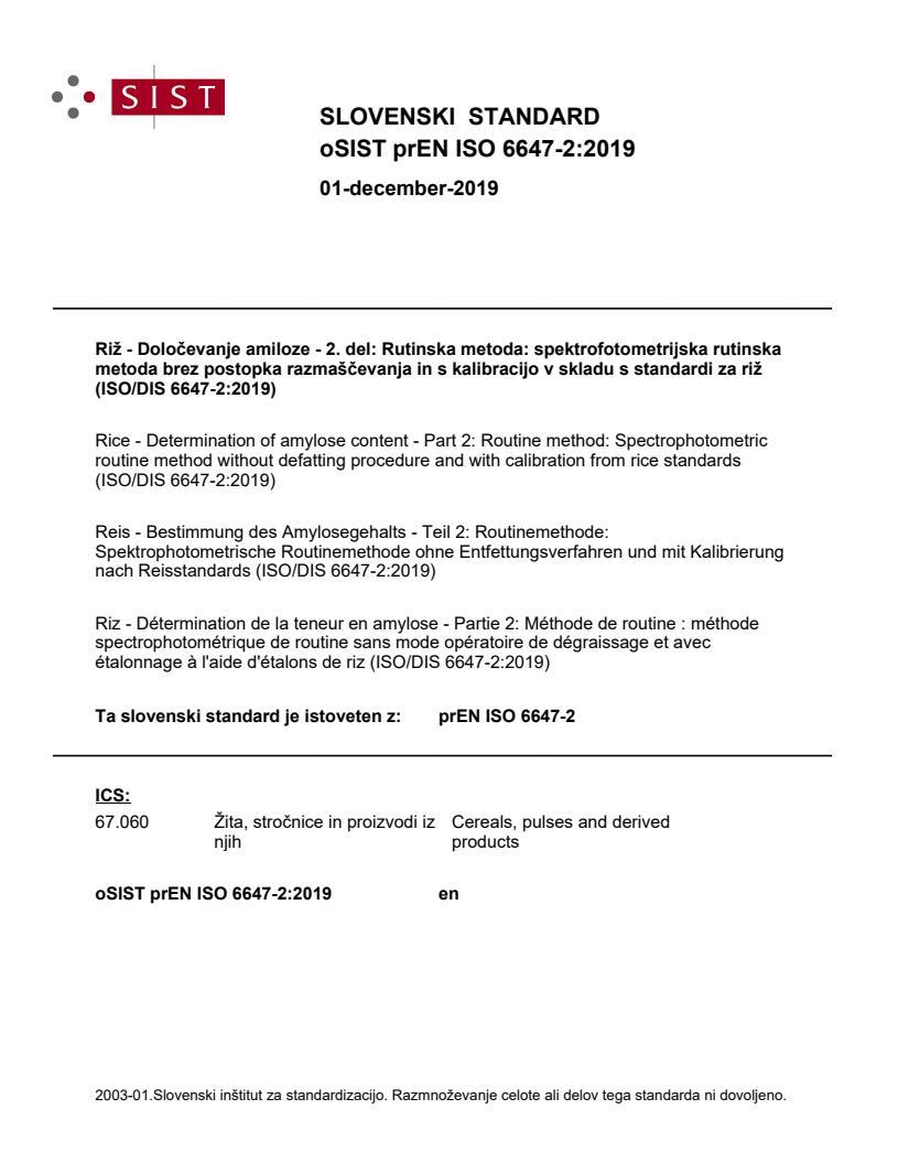 SIST EN ISO 6647-2:2020