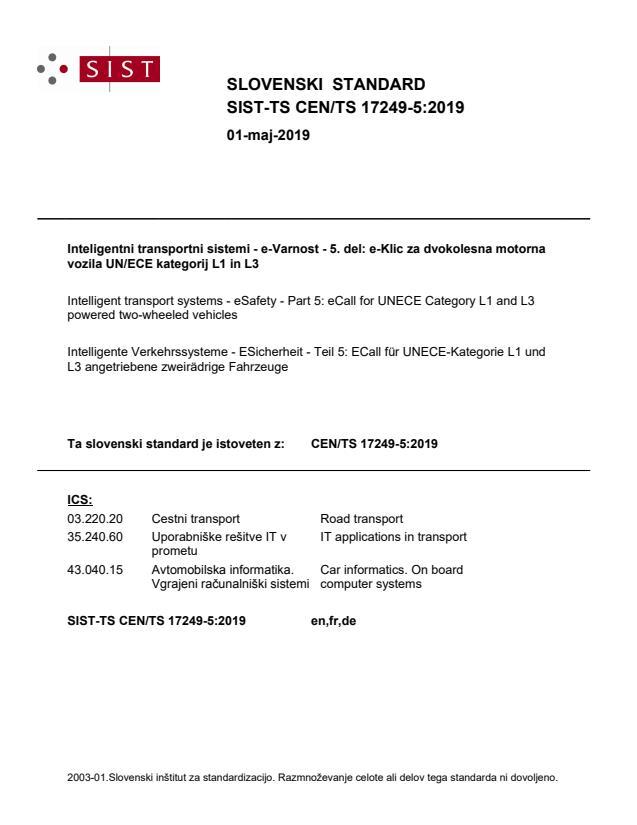 SIST-TS CEN/TS 17249-5:2019 - BARVE na PDF-str 12,14,15