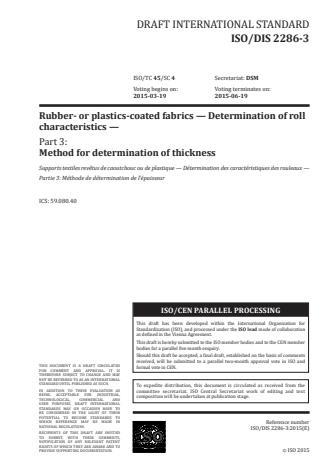 ISO 2286-3:2016 - Rubber- or plastics-coated fabrics -- Determination of roll characteristics