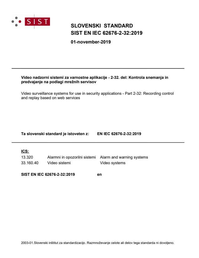 SIST EN IEC 62676-2-32:2019