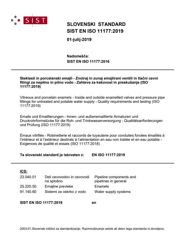SIST EN ISO 11177:2019