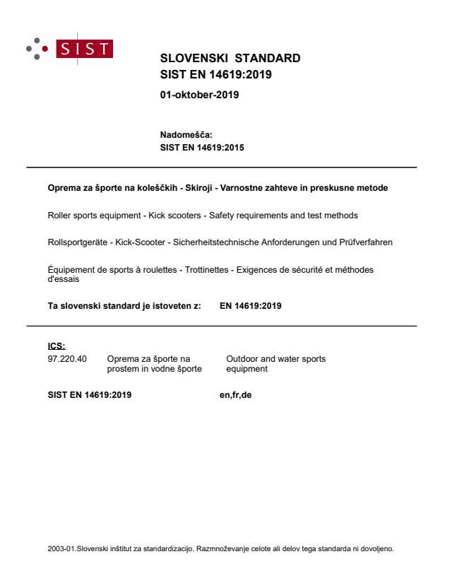 SIST EN 14619:2019 - BARVE na PDF-str 17