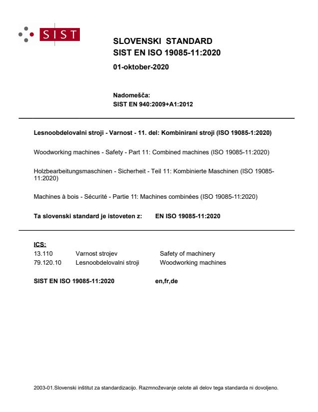 EN ISO 19085-11:2020
