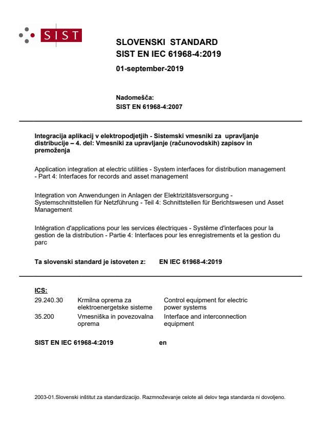 EN IEC 61968-4:2019 - BARVE