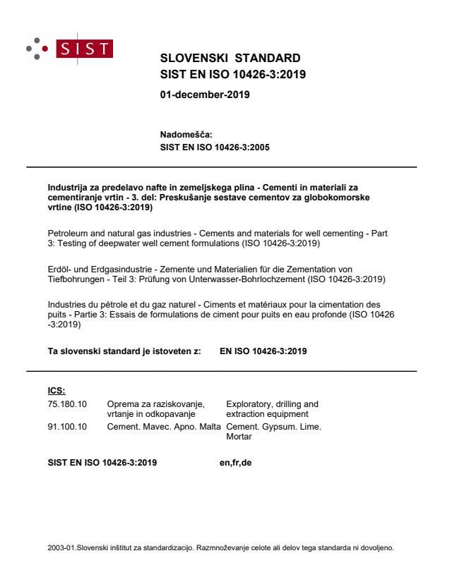 SIST EN ISO 10426-3:2019