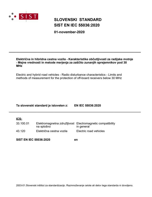 SIST EN IEC 55036:2020