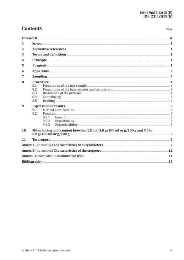 ISO 19662:2018 - Milk -- Determination of fat content -- Acido-butyrometric (Gerber method)