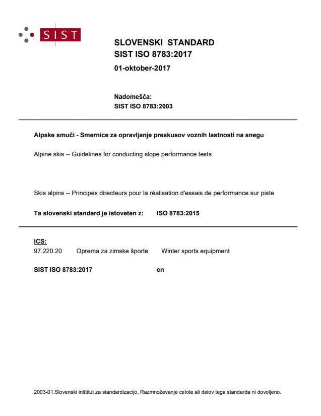 SIST ISO 8783:2017
