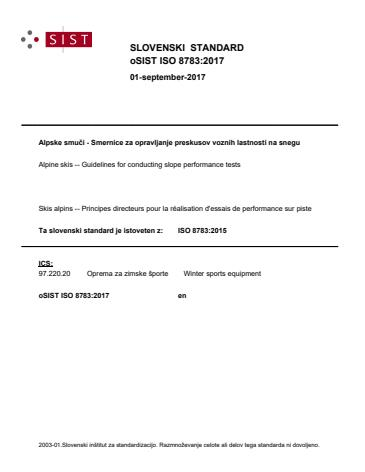 oSIST ISO 8783:2017