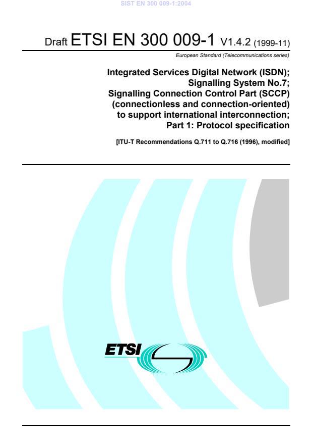 PSIST EN 300 009-1:2000