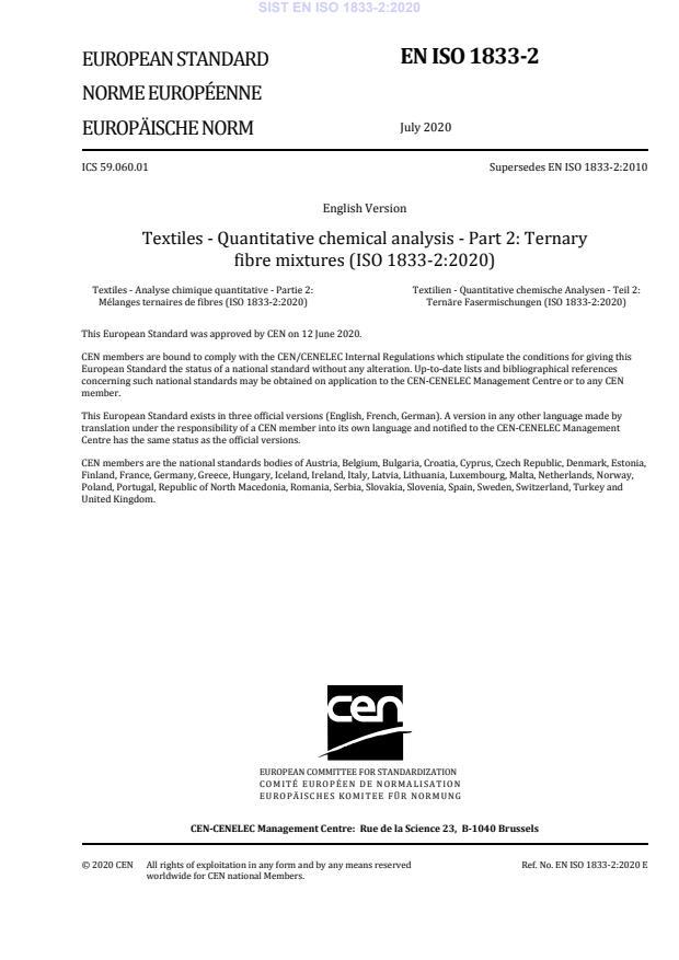 SIST EN ISO 1833-2:2020