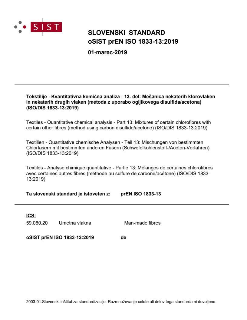 SIST EN ISO 1833-13:2019