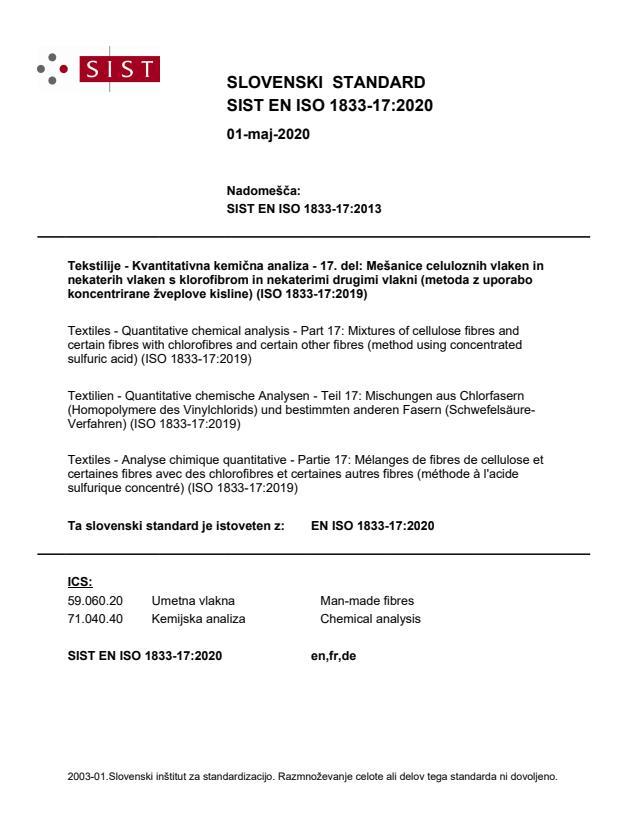 SIST EN ISO 1833-17:2020