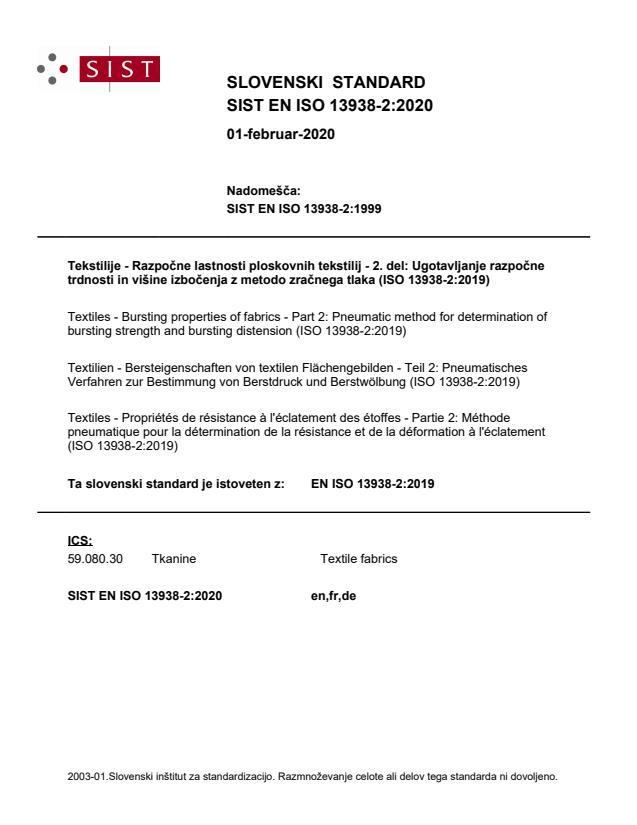 SIST EN ISO 13938-2:2020