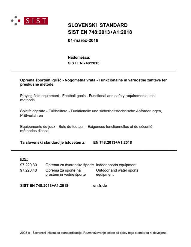 EN 748:2013+A1:2018 - natisnjeno za čitalnico