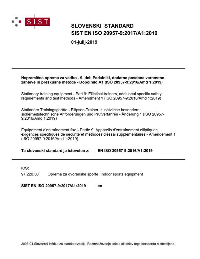 SIST EN ISO 20957-9:2017/A1:2019