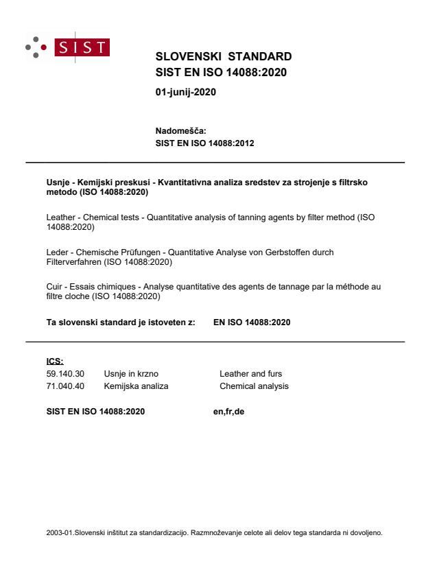 SIST EN ISO 14088:2020