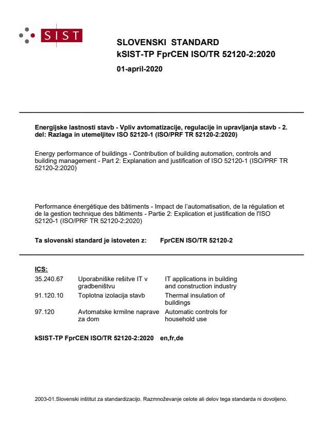 -TP FprCEN ISO/TR 52120-2:2020