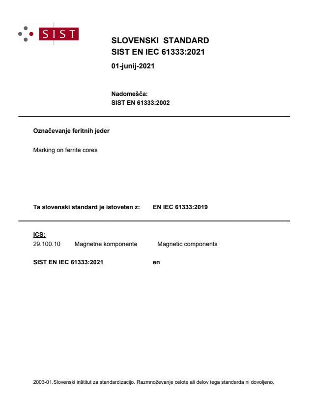 SIST EN IEC 61333:2021