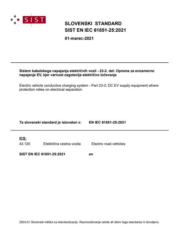 SIST EN IEC 61851-25:2021